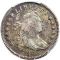 Early Dimes, 1797 10C 13 Stars, JR-2, R.4 -- Cleaning -- Genuine PCGS. XFDetails....