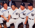 Baseball Collectibles:Photos, Mantle, Berra, Ford and DiMaggio Multi-Signed OversizedPhotograph....