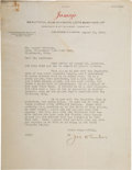 Baseball Collectibles:Others, 1933 Joe Tinker Handwritten & Signed Letter with BaseballContent.. ...