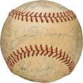 Baseball Collectibles:Balls, 1949 New York Yankees Team Signed Baseball from The Ralph Houk Collection. ...