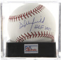 "Autographs:Baseballs, Dave Winfield ""HOF 2001"" Single Signed Baseball, PSA Gem Mint 10.The Goliath Dave Winfield parlayed his exceptional athleti..."