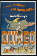 "Movie Posters:Animated, Dumbo (Buena Vista, R-1972). One Sheet (27"" X 41""). Animated. ..."