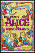 "Movie Posters:Animated, Alice in Wonderland (Buena Vista, R-1981). One Sheet (27"" X 41"").Animated...."