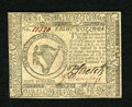 Colonial Notes:Continental Congress Issues, Continental Currency February 17, 1776 $8 Extremely Fine-About New. A couple of light folds are found on this note....