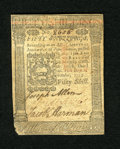 Colonial Notes:Pennsylvania, Pennsylvania October 1, 1773 50s Very Fine-Extremely Fine. Thisnote exhibits a centerfold and has a rough corner at lower l...