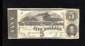 Confederate Notes:1863 Issues, T60 $5 1863. This $5 is bright for the Very Good grade, but a fewedge tears are noticed including one that is approxima...