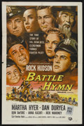 "Movie Posters:War, Battle Hymn (Universal International, 1957). One Sheet (27"" X 41"").War. ..."