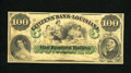 Obsoletes By State:Louisiana, New Orleans, LA- Citizens' Bank of Louisiana $100 18__. Here is a beautiful remainder with portraits that include a decollet...