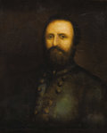 "Military & Patriotic:Civil War, THOMAS ""STONEWALL"" JACKSON: AN IMPORTANT CONTEMPORARY OIL PORTRAIT PAINTED IN 1862...."