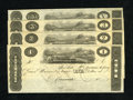 Obsoletes By State:Ohio, Cincinnati, OH- Unknown Issuer $5; $3; $2; $1 18__ Cut Sheet ofPost Notes. These remainders can be dated in the 1817-25 ra...(Total: 4 notes)