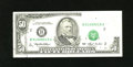 Error Notes:Major Errors, Fr. 2125-B $50 1993 Federal Reserve Note. Very Fine-Extremely Fine.This is a double error note that had an obstruction plus...
