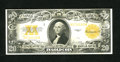 Large Size:Gold Certificates, Fr. 1187 $20 1922 Gold Certificate Very Fine. Bright colors dominate this example which has a slight stain on the front at t...