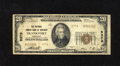 National Bank Notes:Kentucky, Frankfort, KY - $20 1929 Ty. 2 The National Branch Bank of KentuckyCh. # 5376. Twelve small size examples are reported ...