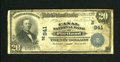 National Bank Notes:Maine, Portland, ME - $20 1902 Plain Back Fr. 650 The Canal NB Ch. #(N)941. Some light foxing is exhibited on this note along ...