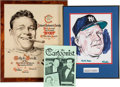 Baseball Collectibles:Others, 1968 Ralph Houk Inaugural Sports Personality of the Year Award& 1970's Ralph Houk Signed Original Artwork by Bill Gallo....