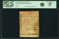 Colonial Notes:Pennsylvania, Pennsylvania March 20, 1771 20s PCGS Apparent Extremely Fine 45.....