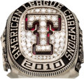Baseball Collectibles:Others, 2010 Texas Rangers American League Championship Ring....
