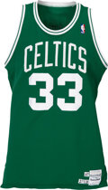 Basketball Collectibles:Uniforms, 1987-88 Larry Bird Game Worn Boston Celtics Jersey, MEARS A8. ...