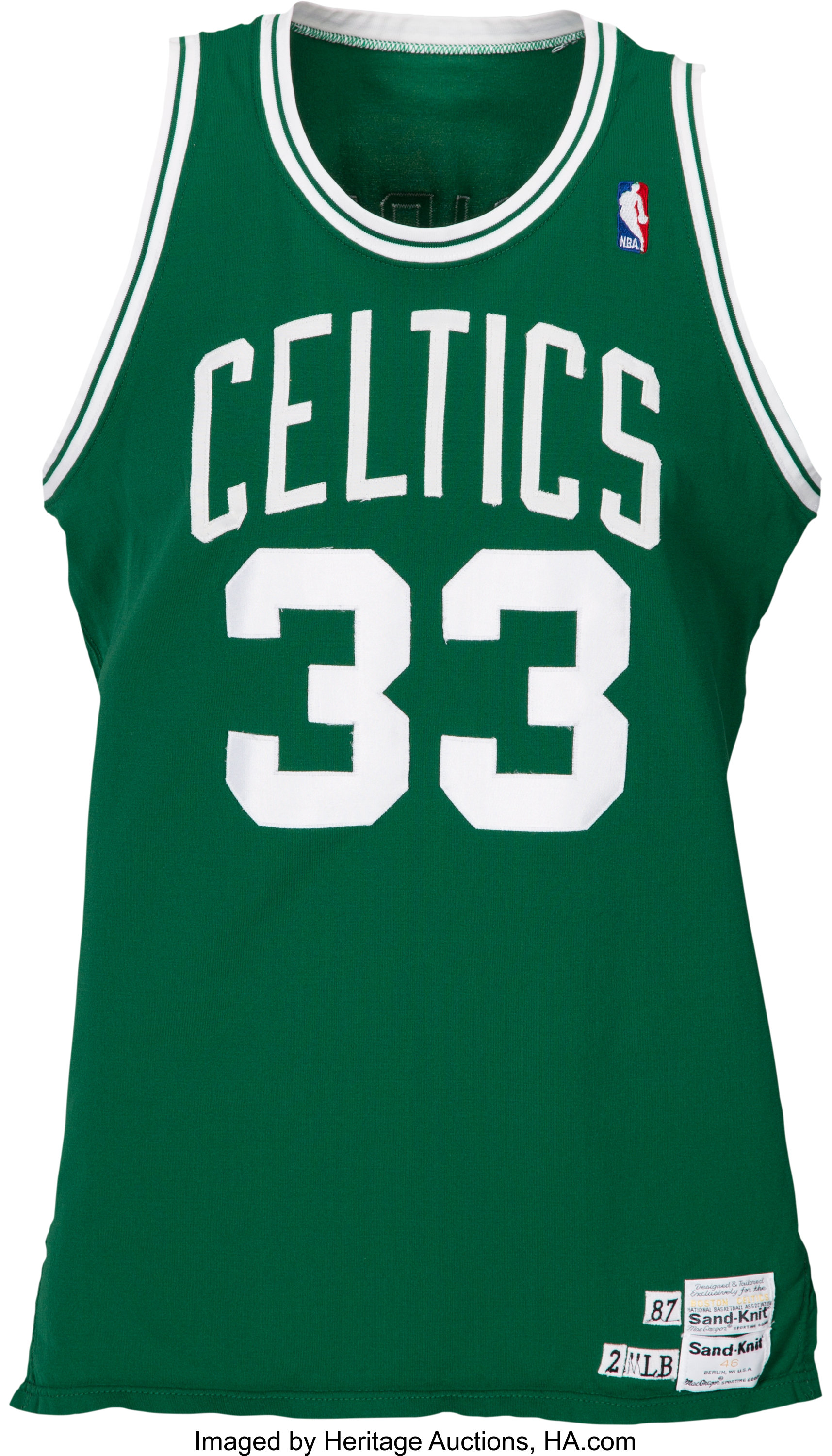 outlet store f6643 320de 1987-88 Larry Bird Game Worn Boston Celtics Jersey, MEARS A8 ...