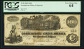Confederate Notes:1862 Issues, Fully Framed W(alter) Smith T39 $100 1862.. ...