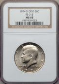 Kennedy Half Dollars, 1974-D 50C Doubled Die Obverse, FS-101, MS65 NGC. NGC Census:(136/10). PCGS Population: (19/2). ...