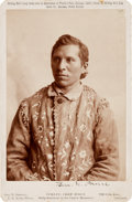 "Photography:Cabinet Photos, Curley, Crow Scout: Cabinet Photo of the ""Only Survivor of theCuster Massacre.""..."