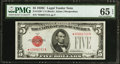 Small Size:Legal Tender Notes, Fr. 1528* $5 1928C Legal Tender Note. PMG Gem Uncirculated 65 EPQ.. ...
