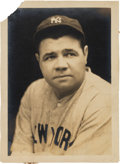 Baseball Collectibles:Photos, Early 1930's Babe Ruth Original Photograph by George Burke, PSA/DNAType 1....