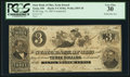 Obsoletes By State:Ohio, Xenia, OH - State Bank of Ohio, Xenia Branch Counterfeit $3 Aug.14, 1861 Wolka 2893-20. ...
