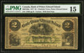 Canadian Currency: , Charlotte Town, PEI- The Bank of Prince Edward Island $2 Jan. 1,1877 Ch. 600-12-06a.. ...