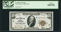Fr. 1860-A $10 1929 Federal Reserve Bank Note. PCGS Gem New 66PPQ