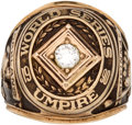 Baseball Collectibles:Others, 1990 World Series Umpire Ring....
