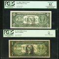 Error Notes:Error Group Lots, Fr. 1614 $1 1935E Silver Certificate. PCGS Fine 12.. Fr. 1906-L $11969C Federal Reserve Note. PCGS Apparent Choice New 63... (Total:2 notes)