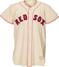 Baseball Collectibles:Uniforms, 1954 Tex Clevenger Game Worn Boston Red Sox Jersey. ...