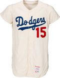 Baseball Collectibles:Uniforms, 1966 Bob Miller Game Worn Los Angeles Dodgers Jersey. ...