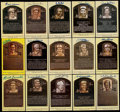 Baseball Collectibles:Others, Baseball Greats Signed HOF Plaque Postcards Collection (15). ...