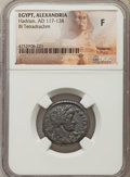 Ancients:Roman Provincial , Ancients: EGYPT. Alexandria. Hadrian (AD 117-138). BI tetradrachm.NGC Fine....