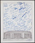 Baseball Collectibles:Others, New York Mets Greats Signed Oversized Photograph. ...