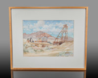 """Water Color Painting. Elizabeth Lauder . """"Field ofDreams"""". 