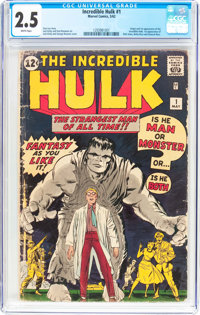 The Incredible Hulk #1 (Marvel, 1962) CGC GD+ 2.5 White pages