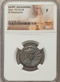 Ancients:Ancient Lots  , Ancients: ANCIENT LOTS. Roman Provincial. Egypt. Alexandria. Nero(AD 54-68). Lot of five (5) BI tetradrachms. NGC Fine.... (Total: 5coins)