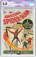 Silver Age (1956-1969):Superhero, The Amazing Spider-Man #1 (Marvel, 1963) CGC Apparent FN 6.0Moderate/Extensive (B-4) Off-white to white pages....
