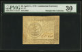 Colonial Notes:Continental Congress Issues, Continental Currency April 11, 1778 $5 PMG Very Fine 30.. ...