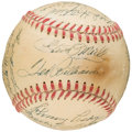 Autographs:Baseballs, Circa 1951 Boston Red Sox Team Signed Baseball (23 Signatures)....