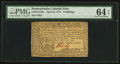 Colonial Notes:Pennsylvania, Pennsylvania April 10, 1777 8s PMG Choice Uncirculated 64 EPQ.. ...