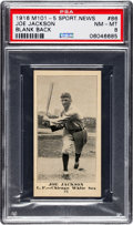 Baseball Cards:Singles (Pre-1930), 1916 M101-5 Blank Back (Sporting News) Joe Jackson #86 PSA NM-MT 8- Pop Two, None Higher. ...