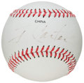 Autographs:Baseballs, Jimmy Carter Single Signed Baseball. ...