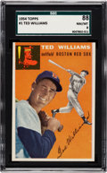 Baseball Cards:Singles (1950-1959), 1954 Topps Ted Williams #1 SGC 88 NM/MT 8....
