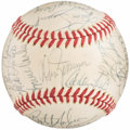 Autographs:Baseballs, 1977 Boston Red Sox Team Signed Baseball (28 Signatures). ...
