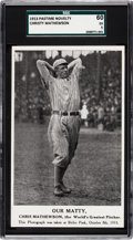 Baseball Cards:Singles (Pre-1930), 1913 Pastime Novelty Christy Mathewson SGC 60 EX 5....